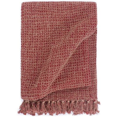 Throw Cotton 125x150 Cm Burgundy - Youthup