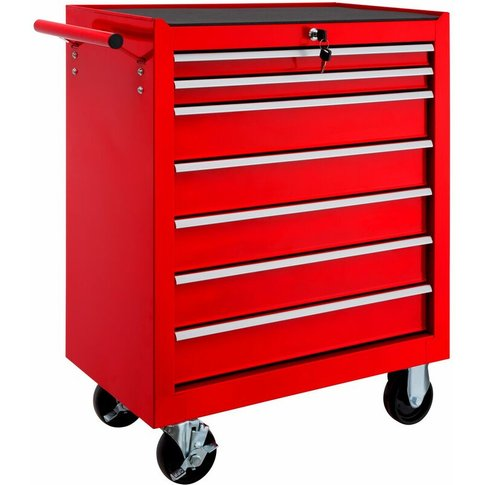 Tectake - Tool Chest With 7 Drawers - Tool Box, Tool...