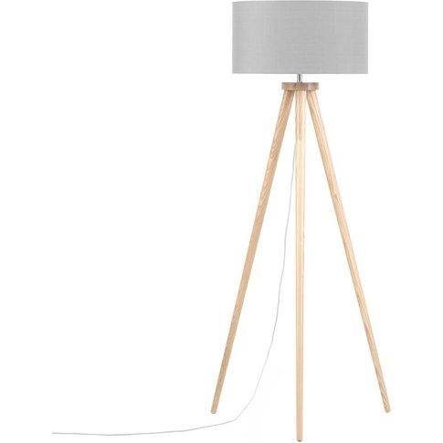 Tripod Floor Lamp Grey Nitra - Beliani