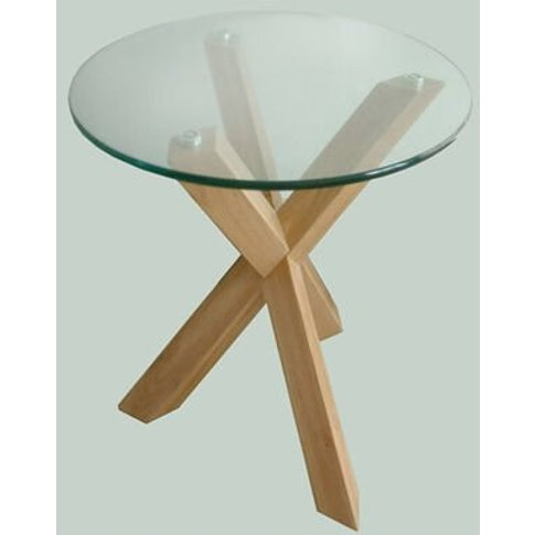Netfurniture - Troil Modern Oak Legs And Clear Glass...