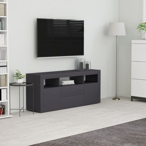 Youthup - Tv Cabinet Grey 120x30x50 Cm Chipboard