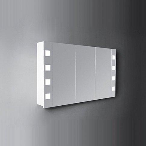 Designer Cube 3-Door Mirrored Bathroom Cabinet 1200mm Wide - Verona