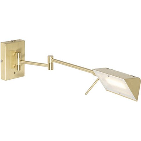 Design Wall Lamp Brass Incl. Led With Touch Dimmer -...