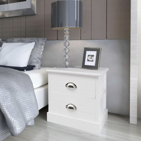 French Bedside Cabinet White - Vidaxl