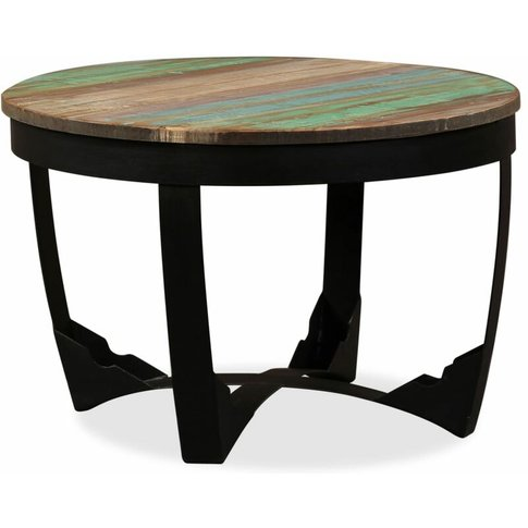 Side Table Solid Reclaimed Wood 60x40 Cm - Vidaxl