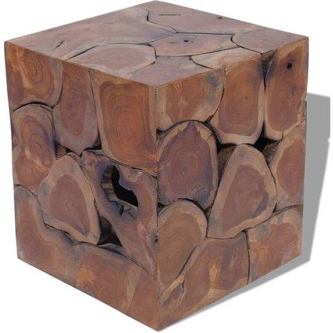 Stool Solid Teak Wood - Vidaxl