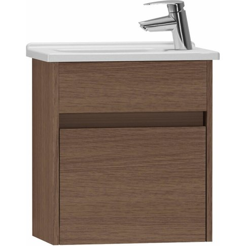 S50 Compact Vanity Unit With Basin 450mm Wide Oak 1 ...