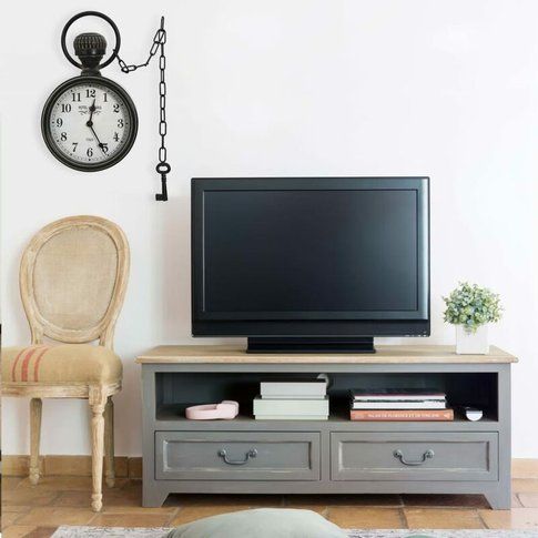 Wall Clock Black 20x8x33.5 Cm Iron And Mdf - Youthup