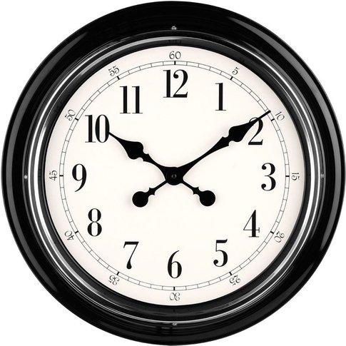 Wall Clock, Metal, Black/Chrome Finish - Big Living