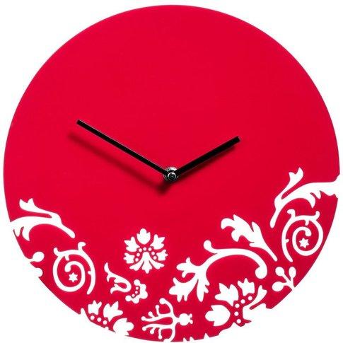 Wall Clock, Red Acrylic - Big Living