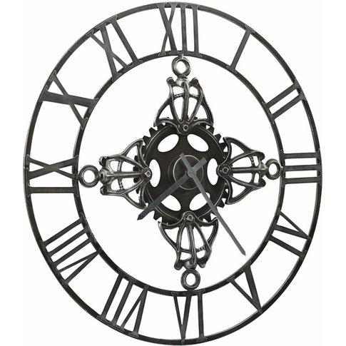 Wall Clock Silver 78 Cm Metal - Vidaxl