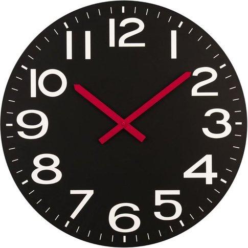 Wall Clock,Black,Mdf - Big Living