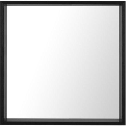 Wall Mirror 50 X 50 Cm Black Brignoles - Beliani