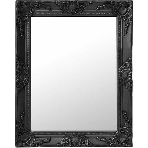 Wall Mirror Baroque Style 50x60 Cm Black - Vidaxl
