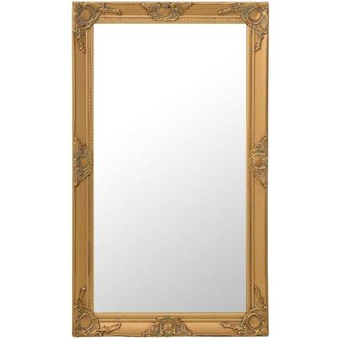 Wall Mirror Baroque Style 60x100 Cm Gold - Vidaxl