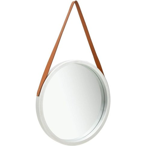 Wall Mirror With Strap 50 Cm Silver - Youthup