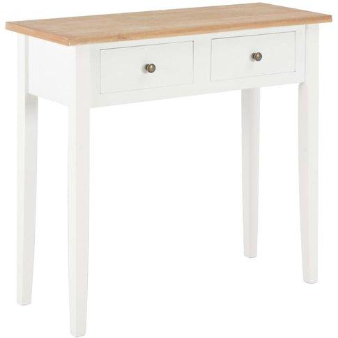 Dressing Console Table 79x30x74 Cm Wood White - Vidaxl