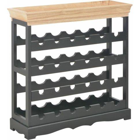 Wine Cabinet Black 70x22.5x70.5 Cm Mdf - Vidaxl