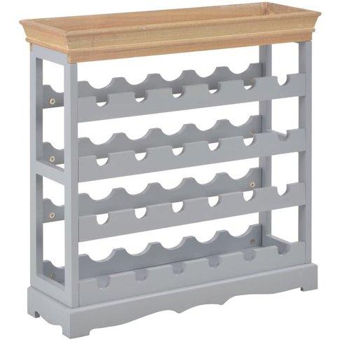 Wine Cabinet Grey 70x22.5x70.5 Cm Mdf - Vidaxl