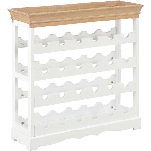 Wine Cabinet White 70x22.5x70.5 Cm Mdf - Youthup