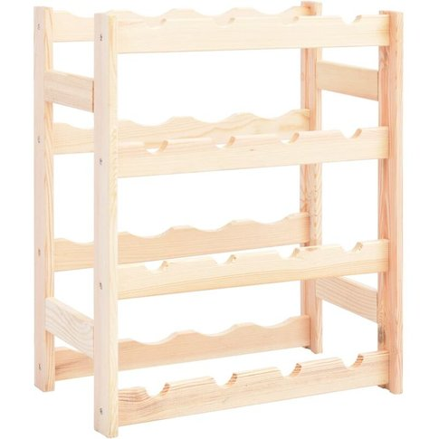 Wine Rack For 16 Bottles Pinewood - Youthup