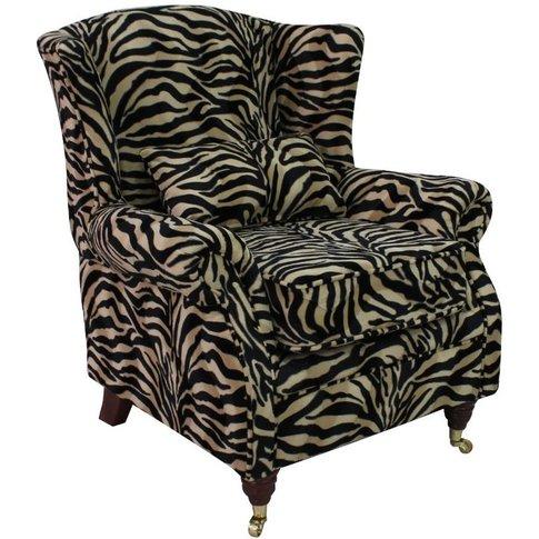 Wing Chair Fireside High Back Armchair Antelope Gold...