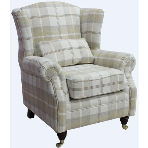 Wing Chair Fireside High Back Armchair Balmoral Natu...