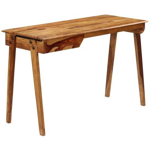 Writing Desk 118x50x76 Cm Solid Sheesham Wood - Youthup