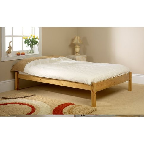Friendship Mill Studio Wooden Bed Frame, King Size, ...