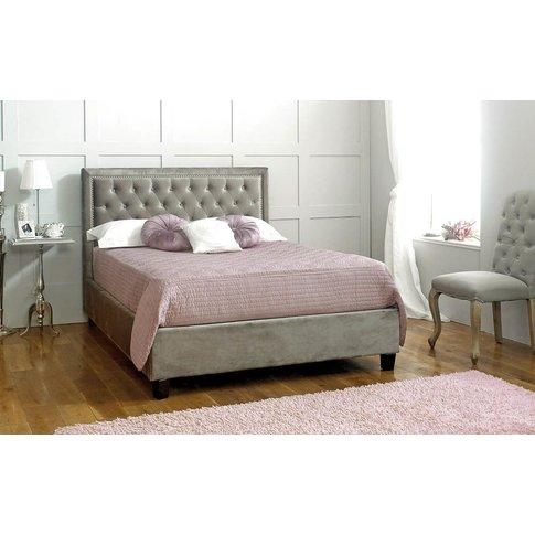 Limelight Rhea Fabric Bed Frame, Superking, Velvet Silver