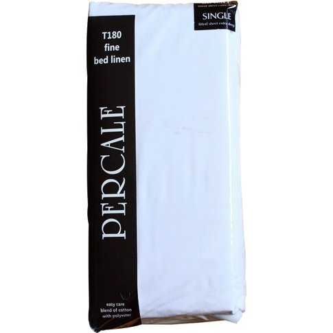 Percale Extra Deep Fitted Sheet, Superking
