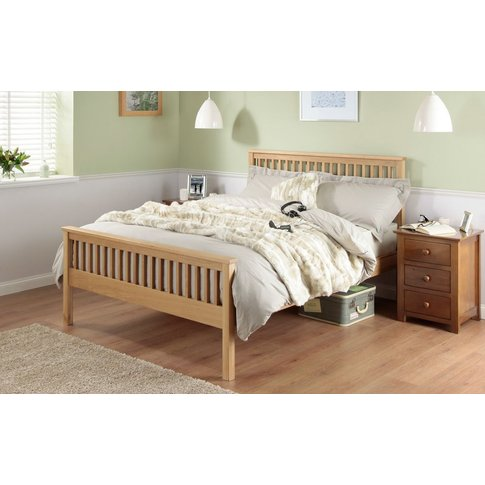 Silentnight Dakota Oak Wooden Bed Frame, Double