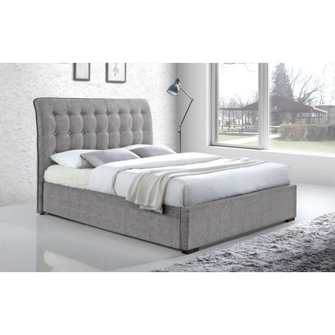 Time Living Hamilton Fabric Bed Frame, Double, Light...