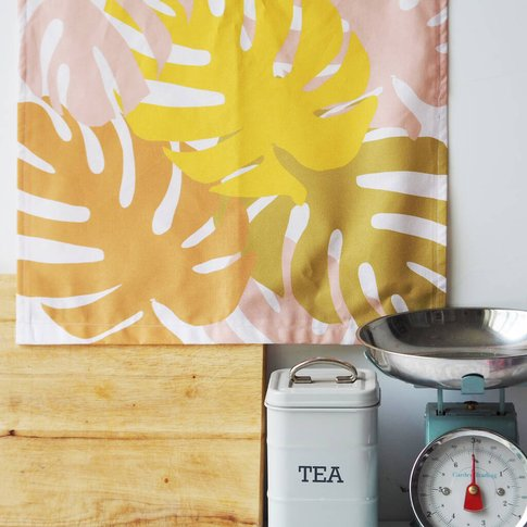 Monstera Pattern Decorative Tea Towel