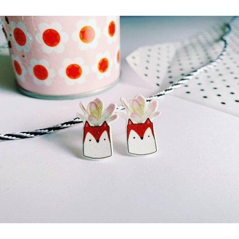 Fox Planter Earrings