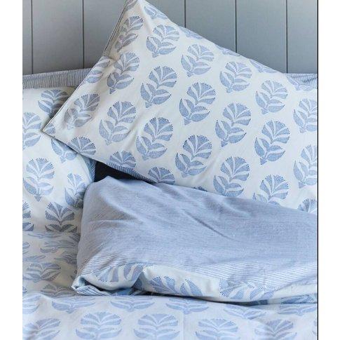 Itars Reversible Print Duvet Cover King Blue, Blue