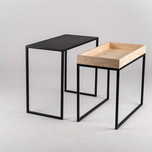 Handmade Steel And Ash Coffee Table