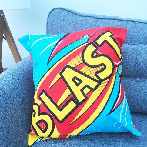 Blast Comic Book Cushion