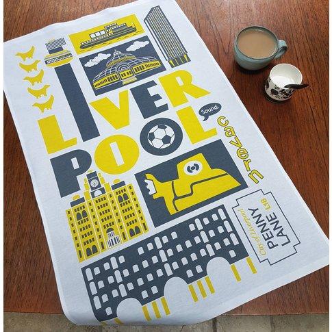 Liverpool Tea Towel