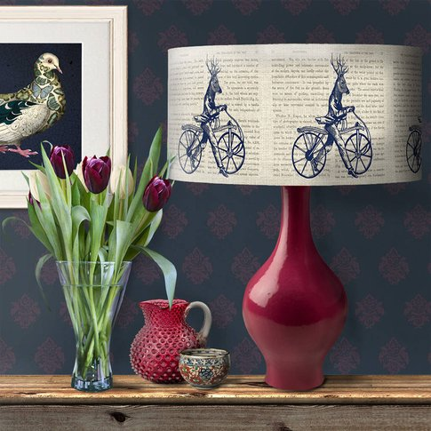 Deer On Bicycle Lamp Shade