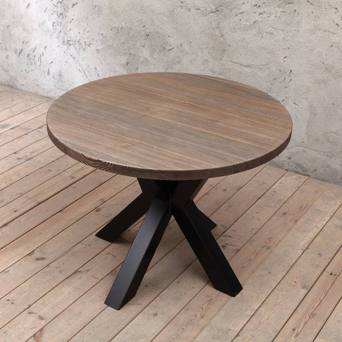 Clyde Solid Wood Round Dining Table