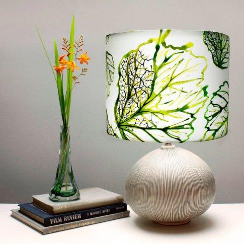 Inky Leaf Botanical Print Lampshade