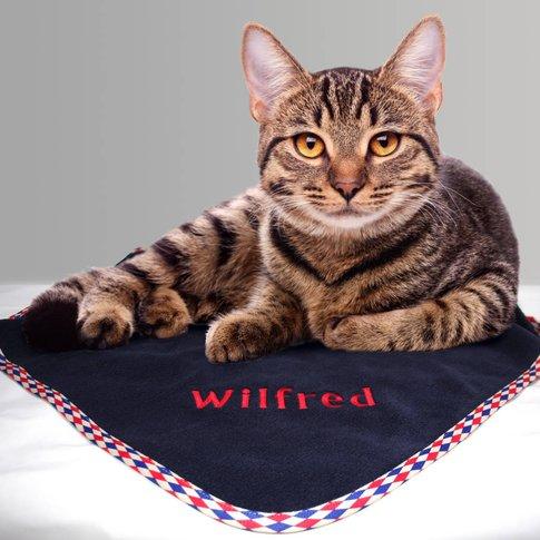 Personalised Cat Blanket