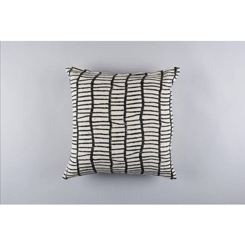 Ajanta Graphic Pattern Linen Cushion Cover