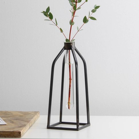 Industrial Test Tube Vase