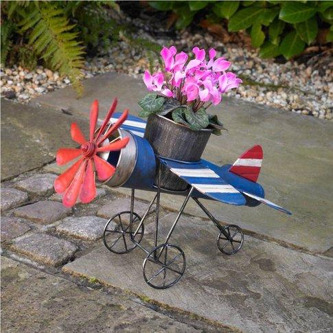 Aeroplane Spitfire Metal Garden Planter Aeroplane Gift