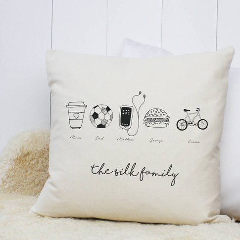 Personalised 'We Love Family' Cushion Case