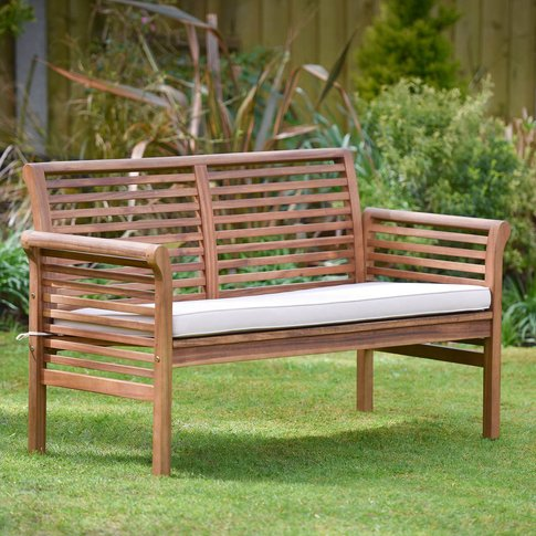 Two Seater Hardwood Garden Sofa
