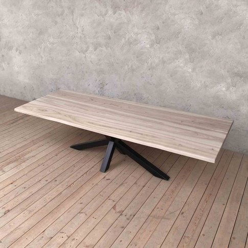 Pearl Light Ash Dining Table With Diamond Legs