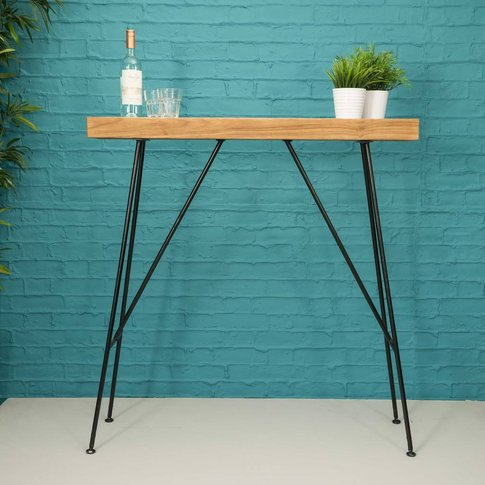 Natural Teak Root Narrow Drinks Console Table